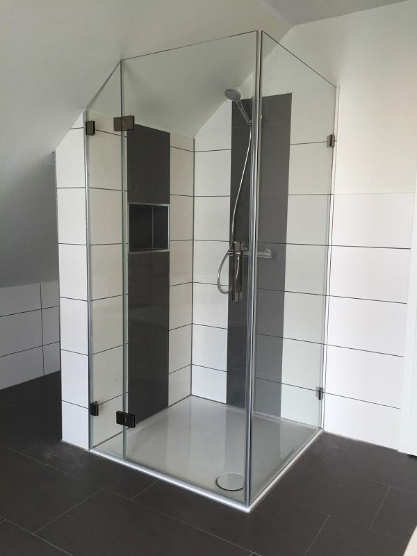 Dusche In Dachschräge duschkabine aus glas meisterqualität aus hannover