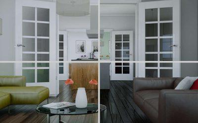 Glas im Wohnraum