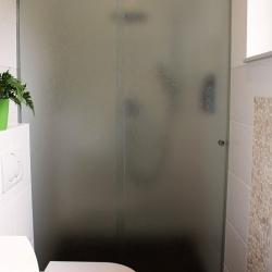 Satinierte Glasdusche Duschentrennwand