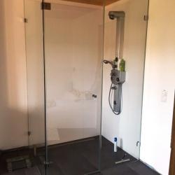 Bodengleiche Dusche aus Glas