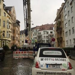 Einsatzfahrzeug der Glaserei Nolting Hannover